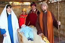 Živý Betlém na náměstí Míru ve Fryštáku