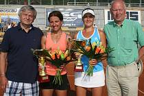 Ve finále čtyřhry ženksého tenisového turnaje žen Smart Card Open by Monet+ ve Zlíně slavila úspěch Bejgelzimerová s Čaknašviliovou (UKR/GEO, na snímku), když ve finále porazily maďarský pár Janiová, Marošiová 3:6, 6:1, 10:8.