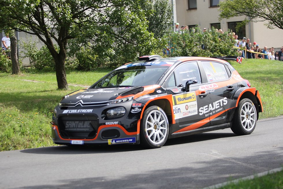 V rámci 49. ročníku Barum Czech Rally Zlín absolvovali v sobotu dopoledne jezdci rychlostní zkoušku Březová. Na snímku Alexej Lukjaňuk
