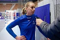 Česká reprezentační křídelnice Veronika Malá je před mistrovstvím Evropy ve Francii zdravá a ve formě.