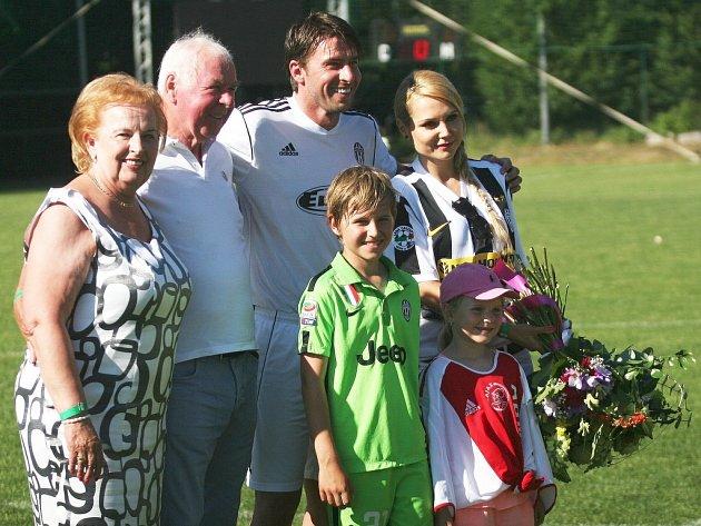 Rodina fotbalisty Zdeňka Grygery.