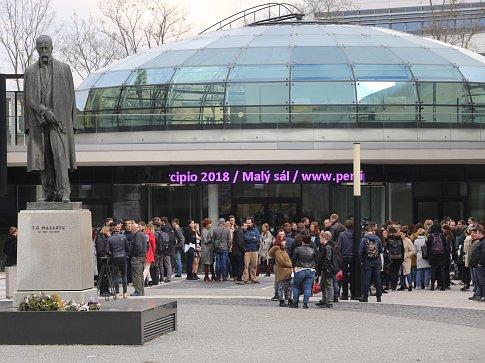 Demonstrace studentů - Vyjdi ven ve Zlíně.