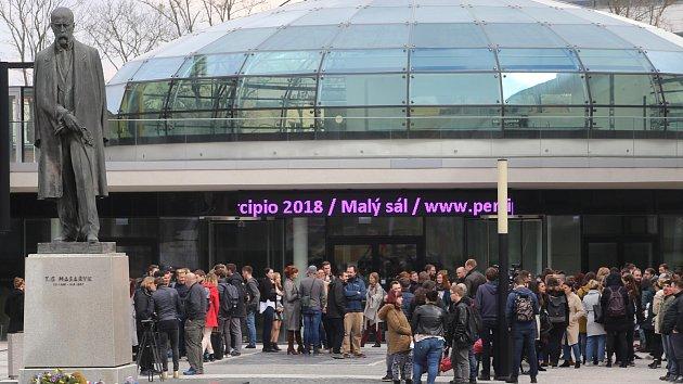 Demonstrace studentů - Vyjdi ven ve Zlíně