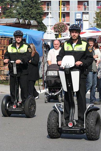 Městská policie v Otrokovicích testovala vozítka Segway