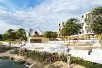 Urbanistický návrh využití areálu po KNTB ze studia architektonické kanceláře P.P. Architects s.r.o. Brno