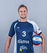 Blokař Michal Čechmánek patří k oporám volejbalové Fatry Zlín.