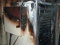 Požár pece v Drnovicích na Valašskokloboucku