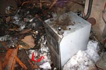 Požár v kotelně rodinného domu v obci Zubří.