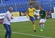 FC  FASTAV Zlín   - FK Jablonec. Vukadin Vukadinović v akci