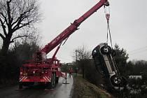 Dopravní nehoda u Žlutavy.