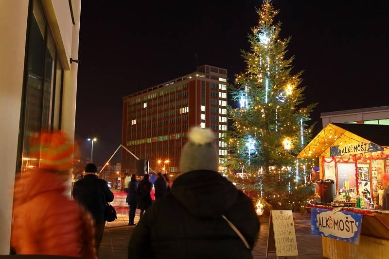U Obchodního domu po devíti letech opět září vánoční strom