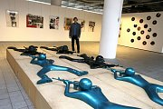 Výstava Milana Knížáka Žít jinak v krajské galerii výtvarného umění ve Zlíně.