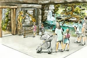 Vizualizace nové expozice Jaguar Trek v Zoo Zlín