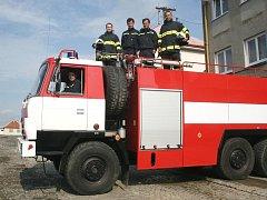 Jednotka dobrovolných hasičů z Velkého Ořechova.