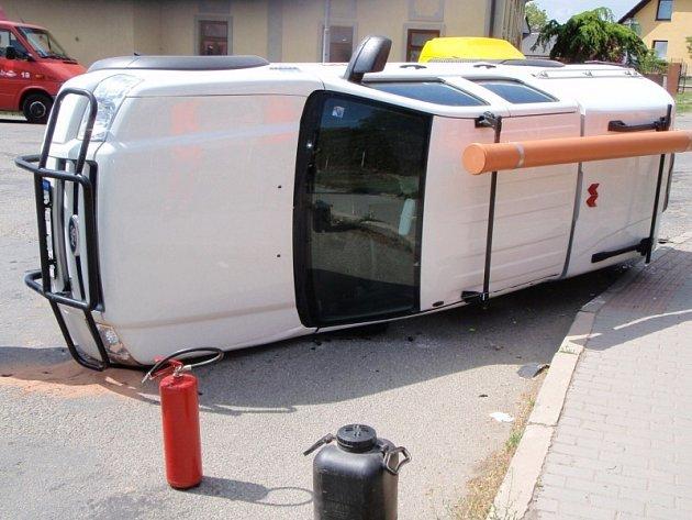 Nehoda na fryštácké křižovatce.