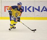Extraligoví hokejisté Zlína (ve žlutém) ve 12. kole doma hostili Olomouc. Freibergs