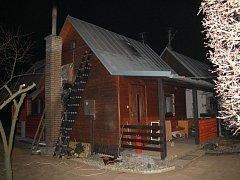 Jedno z míst zásahu hasičů