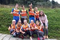 Žáci tlumačovské školy při přespolním běhu