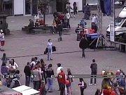 Zlínská výtržnice pohledem policejní kamery