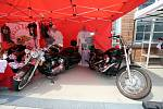 Přípravy na  evropský festival Route 66 ve Zlíně.Papežské motocykly Harley-Davidson
