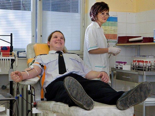 Hasiči ze Zlínského kraje byli ve středu 8. února hromadně darovat krev ve zlínské nemocnici, aby tak podpořili charitativní akci organizovanou Luhačovickou Korunkou.