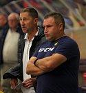 Extraligoví hokejisté PSG Berani Zlín v přípravě proti pražské Slavii