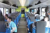 Jízda vlakem. Ilustrační foto