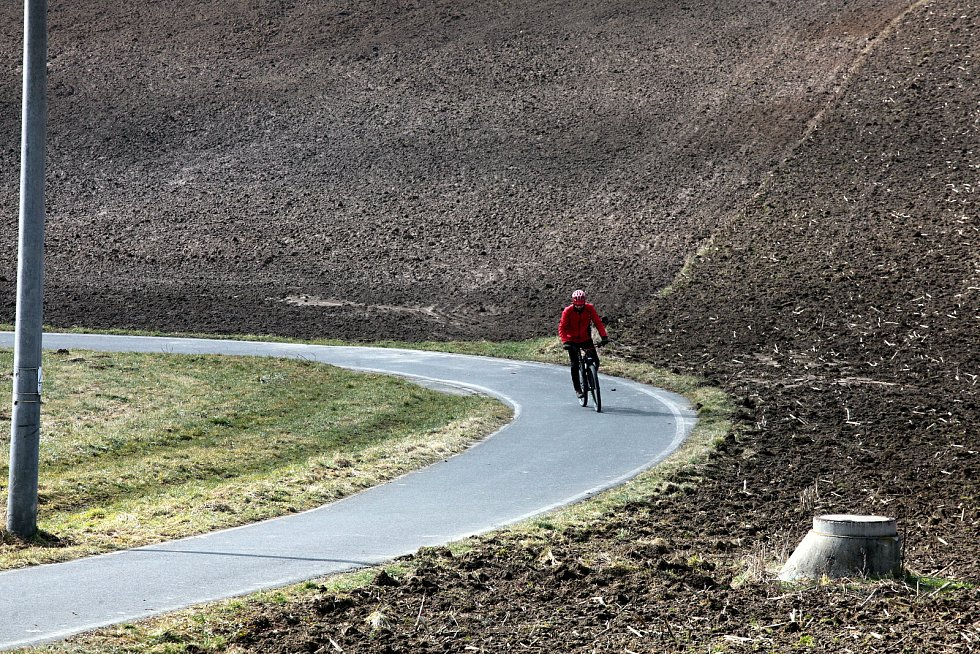Cyklostezka ve Štípě; neděle 28. února 2021