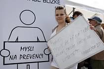 Roadshow v rámci projektu Screeningových programů na podporu na podporu boje s rakovinou na Náměstí Míru ve Zlíně