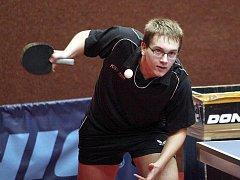 Stolní tenisté KST Zlín. Na snímku Tomáš Smýkal.