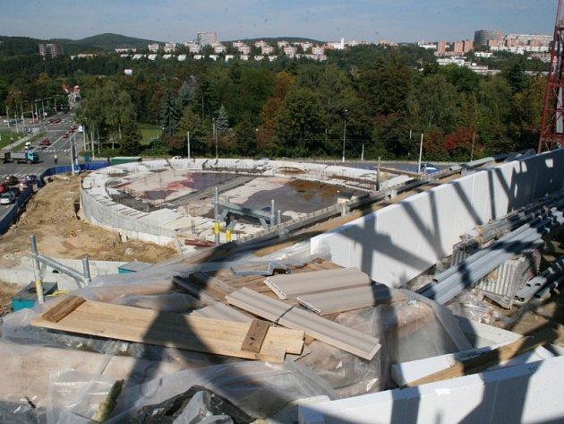 Stavba Kongresového centra ve Zlíně