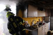 Likvidace požáru zahradního domku v Otrokovicích
