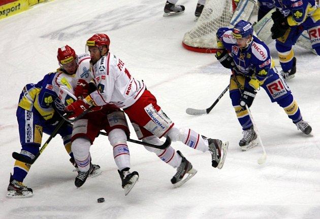 Hokej PSG Zlín - HC Oceláři Třinec. Ilustrační foto