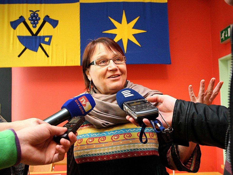 Veřejná ochránkyně práv Anna Šabatová ve Zlíně.