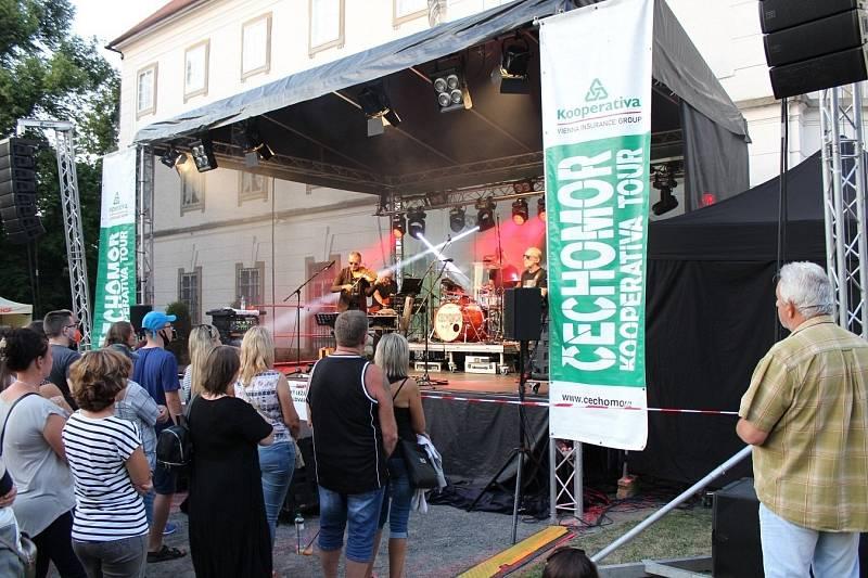 Koncert Čechomoru u vizovického zámku, 23. 7. 2021
