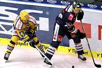 Extraligoví hokejisté Zlína se střetli v 14. kole s Libercem.