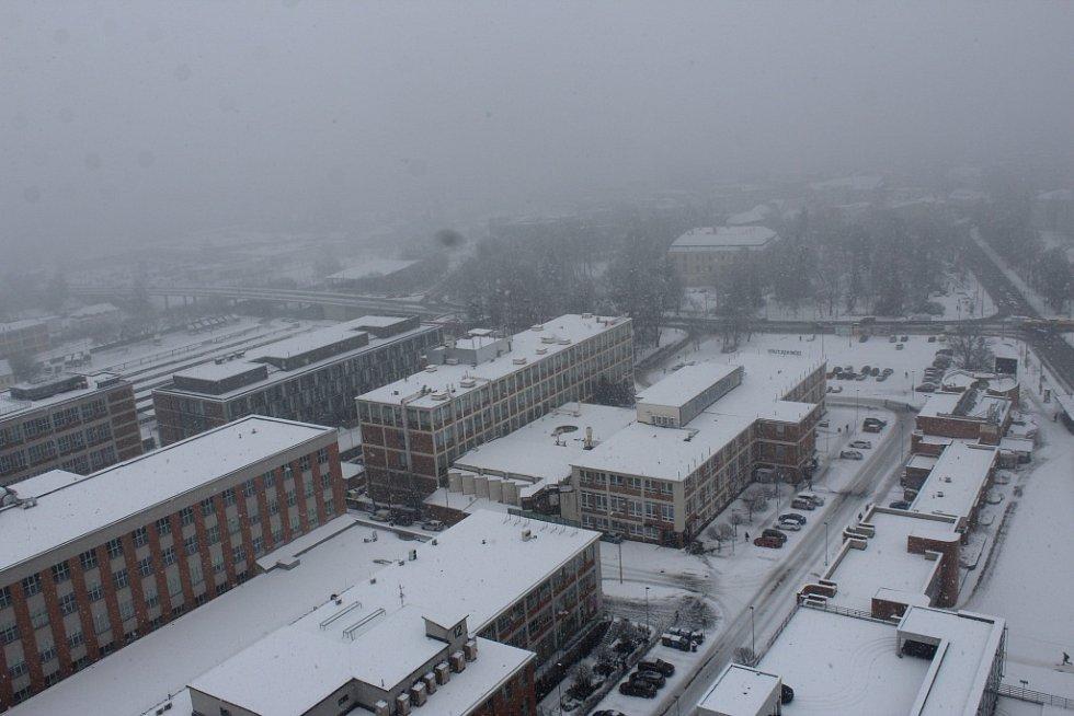 Sníh komplikoval dopravu ve Zlínském kraji 28. 1. 2018