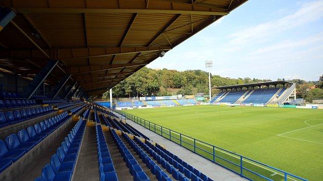 Fotbalový stadion Letná ve Zlíně.