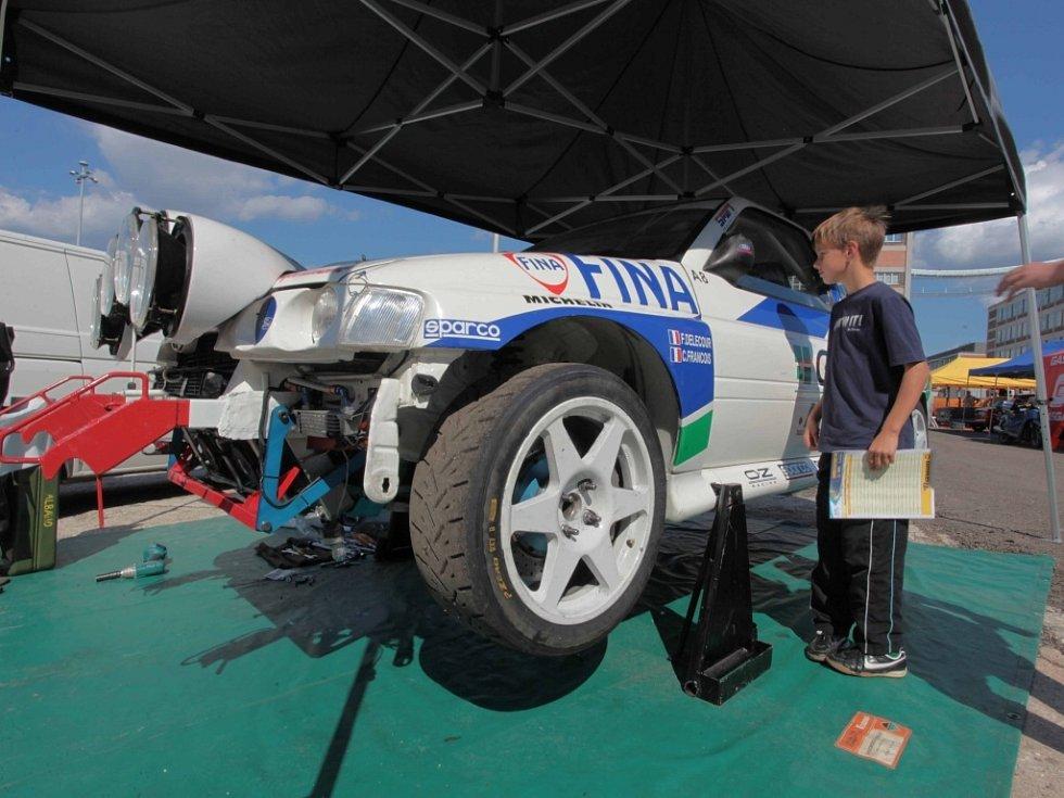Barum Czech Rally Zlín 2014. Depo veteránů.
