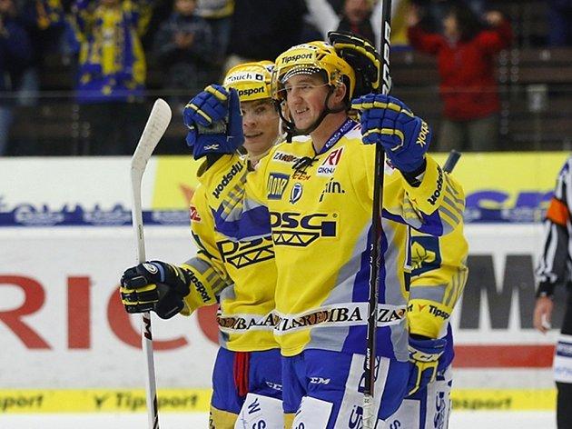 Zlínský hokejový útočník Jiří Ondráček se v sezoně radoval již ze tří branek. Kdy přidá další?