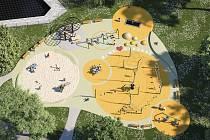 V Rekreační oblasti Štěrkoviště si děti na novém hřišti pohrají ještě letos.