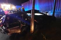 Srážka osobního vozidla s vlakem ve Zlíně