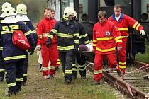 U Tlumačova na Zlínsku ve středu 6. října probíhalo rozsáhlé cvičení hasičů a záchranářů.