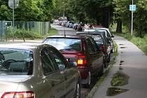 Problematická dopravní situace u Krajské nemocnice ve Zlíně.
