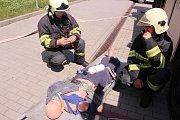 Cvičení hasičů v Senioru Otrokovice
