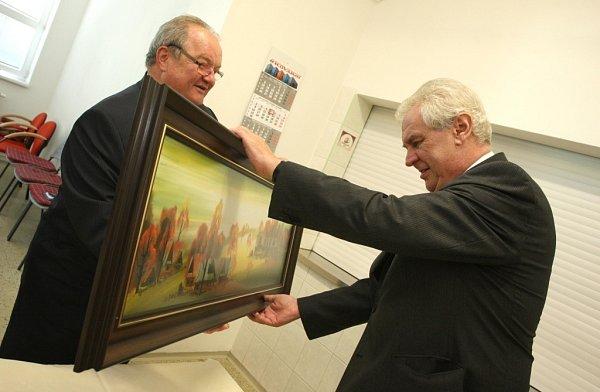 Návštěva prezidenta Miloše Zemana ve firmě Kovar vLeskovci.