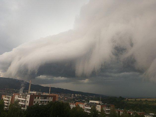 Bouřka nad Zlínem 20.července 2020