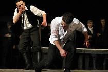 Zkouška hry Je třeba zabít Sekala v Městském divadle Zlín.