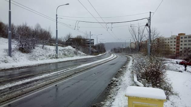 První sníh ve Zlíně