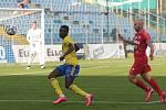 Fotbalisté Zlína (ve žlutých dresech)  ve 3. kole FORTUNA:LIGY porazili Zbrojovku Brno 3:1